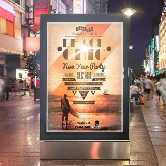 Azura_Design_Portfolio_beach_chic_poster_design | Azura Design - Digital Creative Studio London