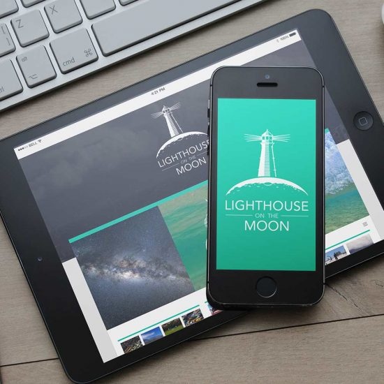 Azura_Design_Portfolio_lighthouse_on_the_moon_website_design | Azura Design - Digital Creative Studio London