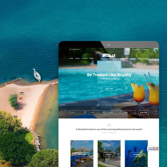 Azura_Design_Portfolio_ocean_sports_resort_website_design2 | Azura Design - Digital Creative Studio London