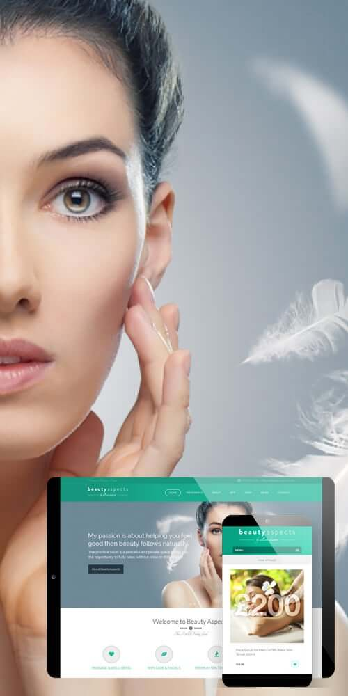 azura_portfolio_long_beauty_aspects_web_design | Azura Design - Digital Creative Studio London
